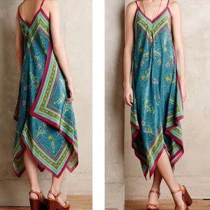 Sz M/ L Anthropologie Silk Belita Selva Dress